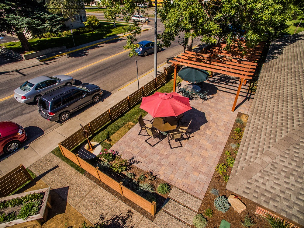 Patio built with pavers