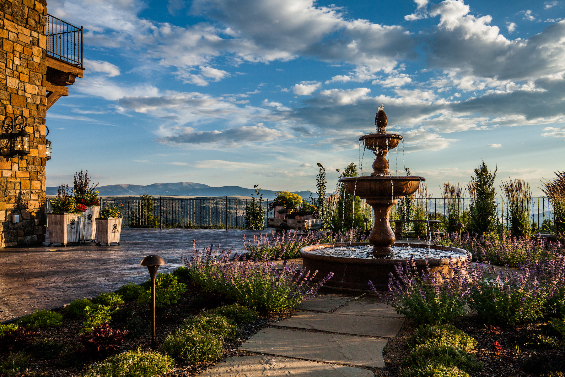 Tuscan inspired water feature fountain