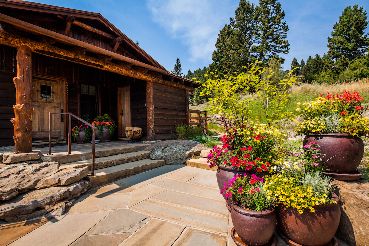 container garden designed by Blanchford Landscape Group in Bozeman, MT
