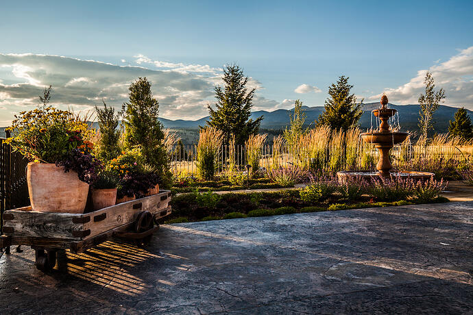 landscape maintained by landscape company in Bozeman, MT