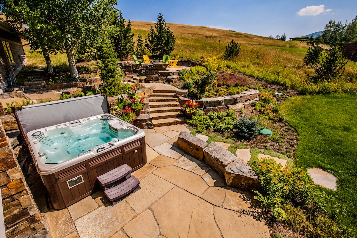 Beautiful residential landscape in Bozeman, MT designed by Blanchford Landscape Group