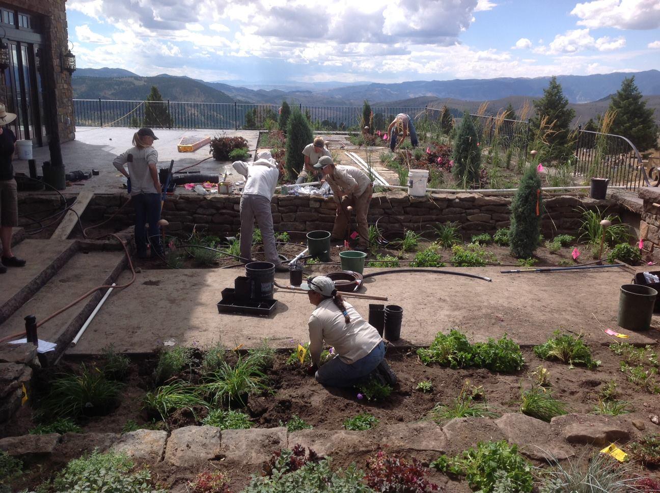 Blanchford Landscape Group Garden Services team in Bozeman, MT