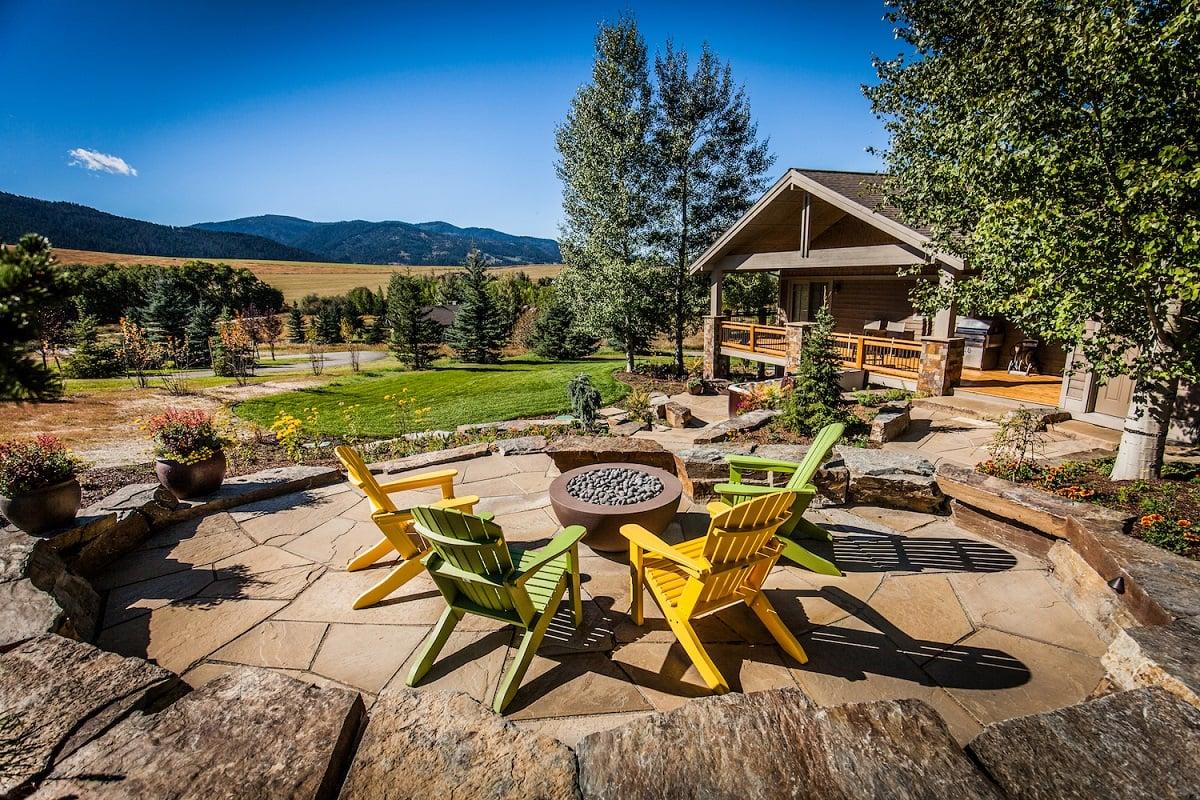 beautiful patio designed by landscape design company in Bozeman, MT
