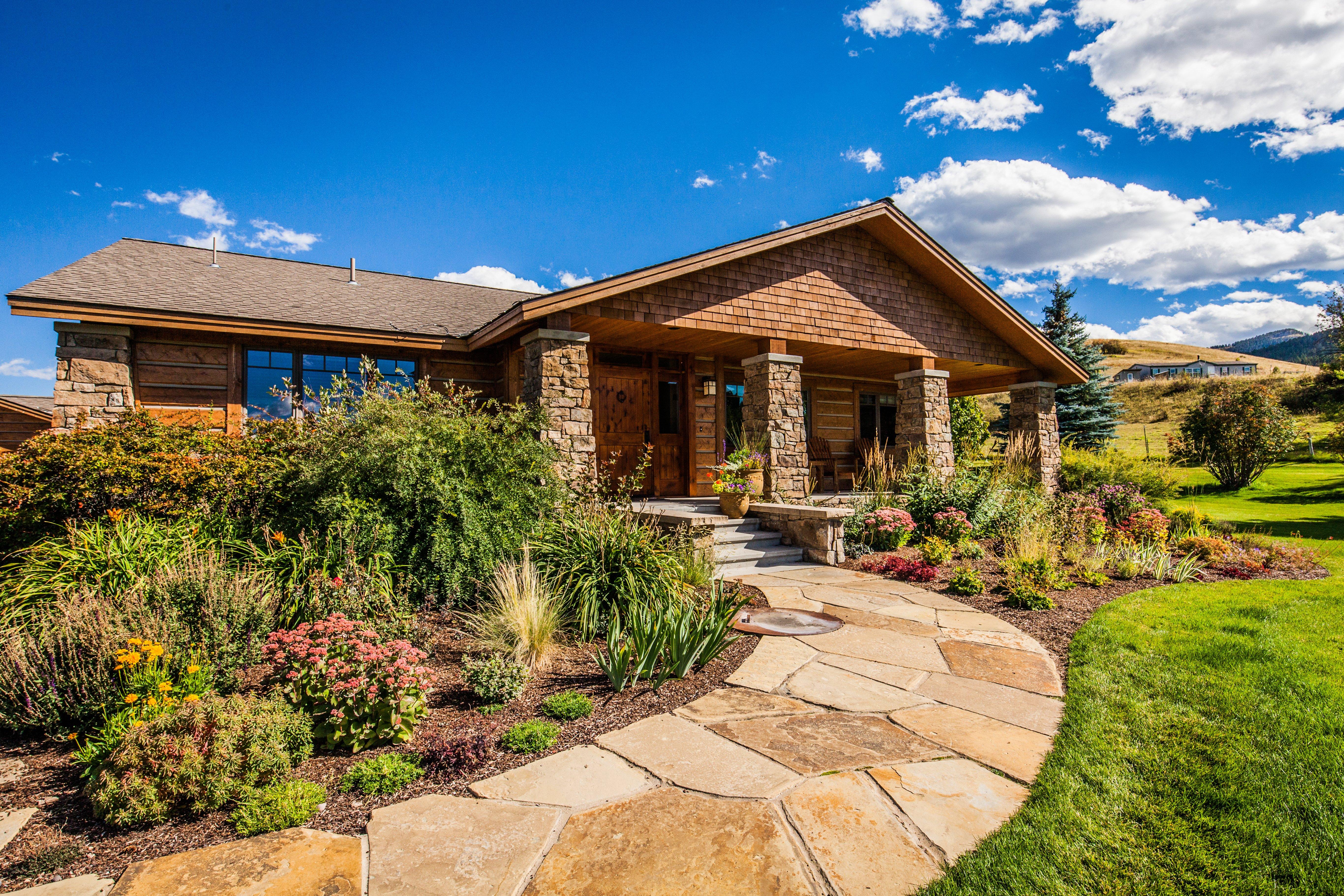 landscape plants in Montana lawn