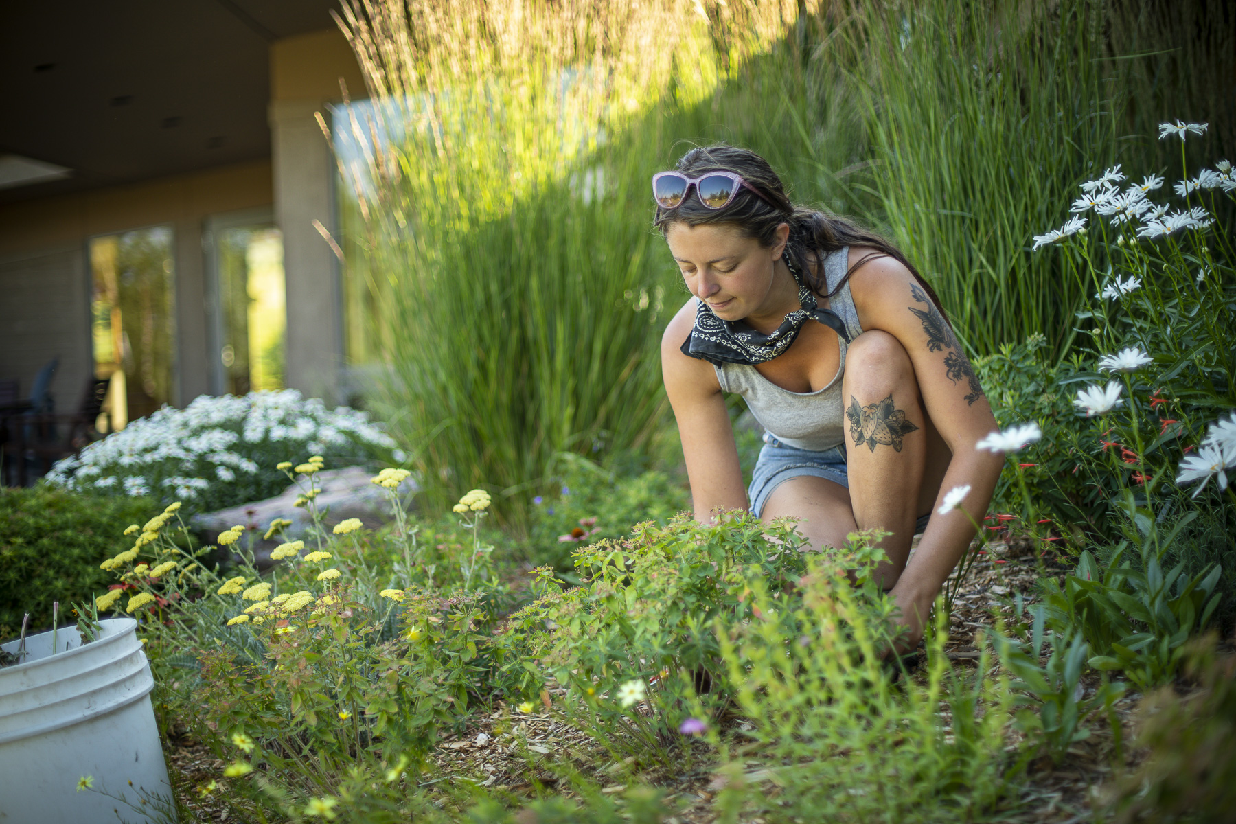 Garden services team providing sustainable maintenance
